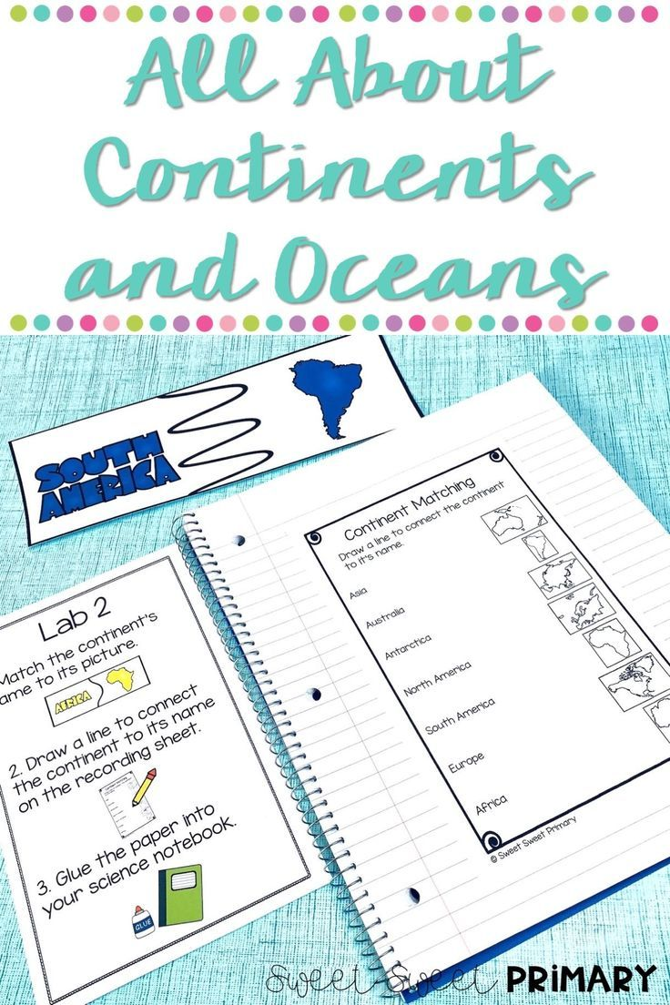 Continents unit social studies and science centers for