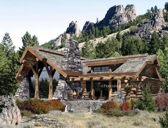 Caribou Log Home Floor Plan by Precision Craft – Precision Log Home Floor Plans