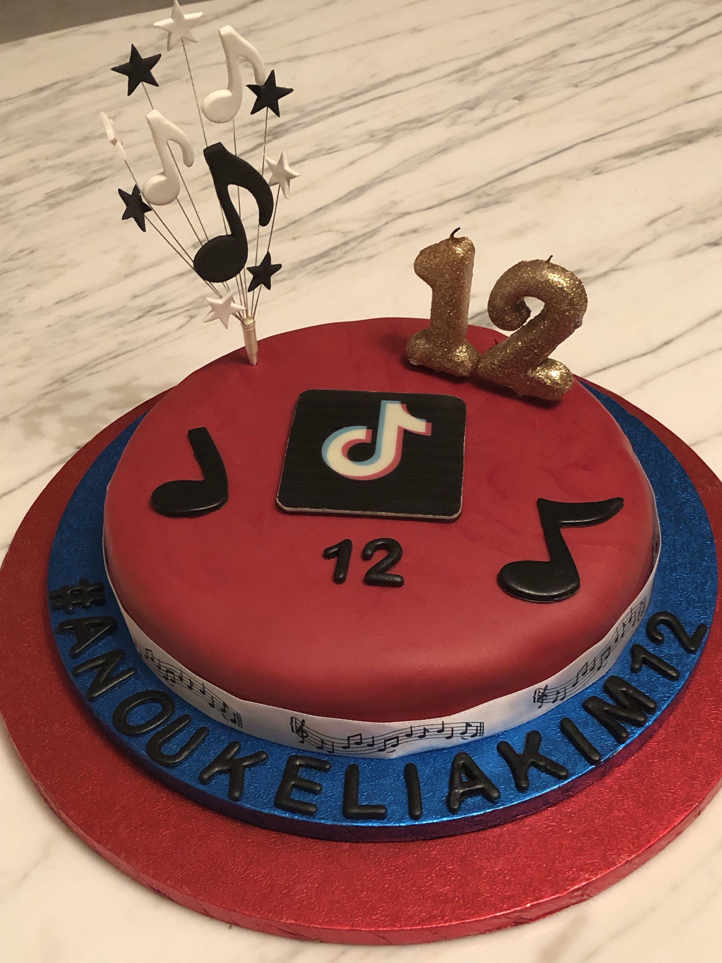 Tik Tok Cake Edible Image Cake Brithday Cake Cake