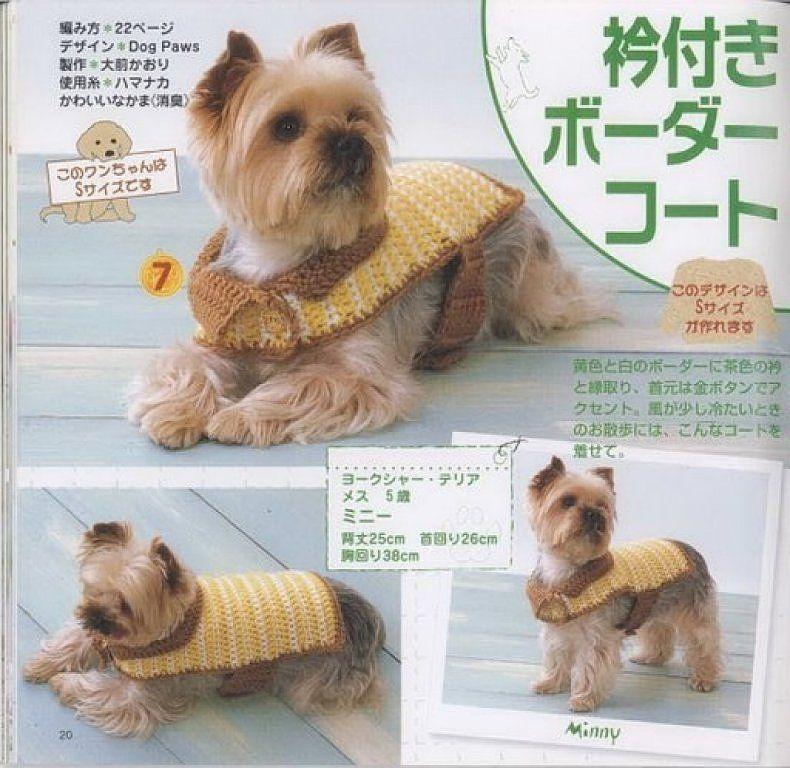 Lujoso Suéteres Para Perros Pequeños Patrones De Ganchillo Para ...