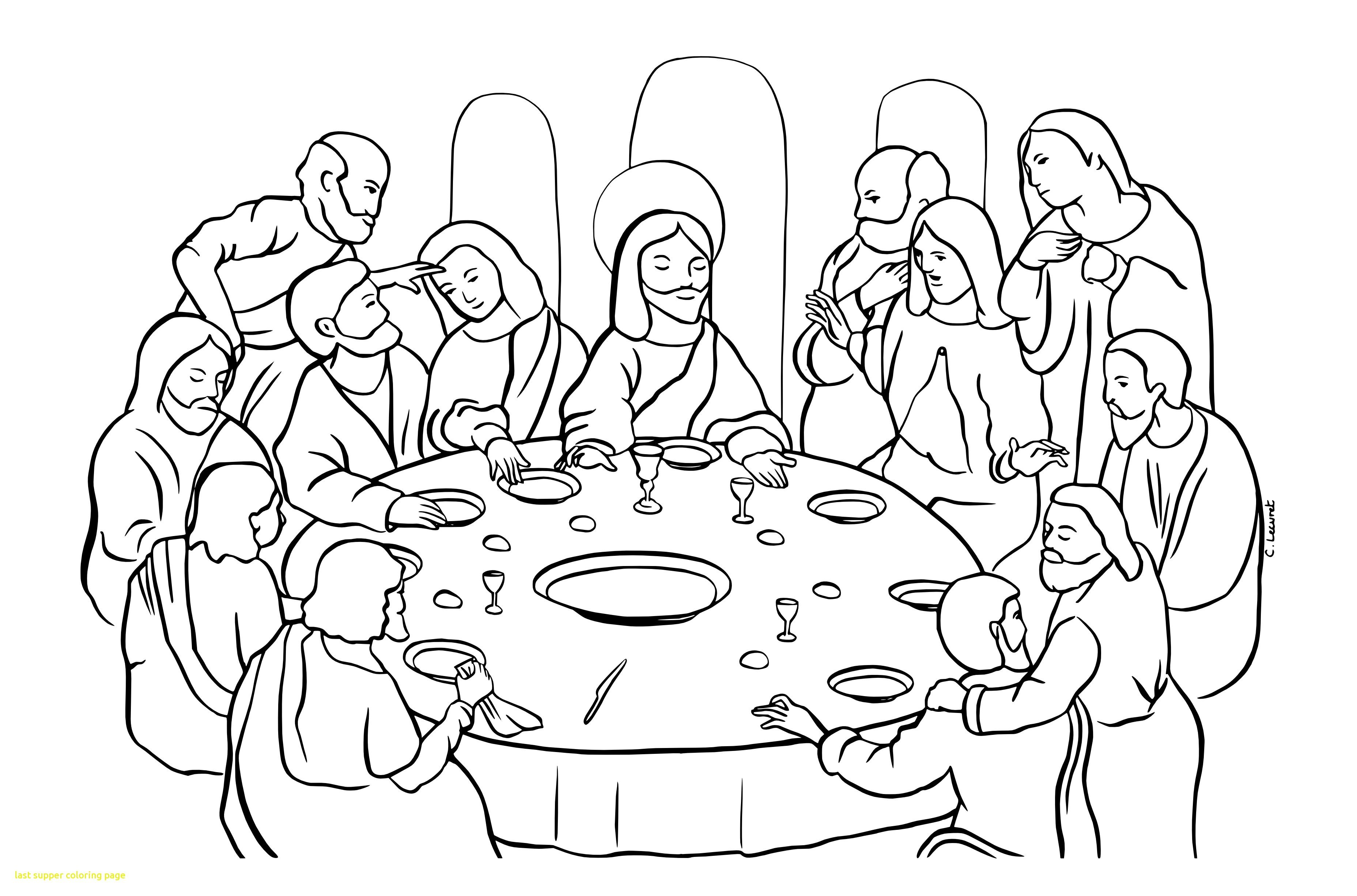 Lords Supper Page Coloring Pages
