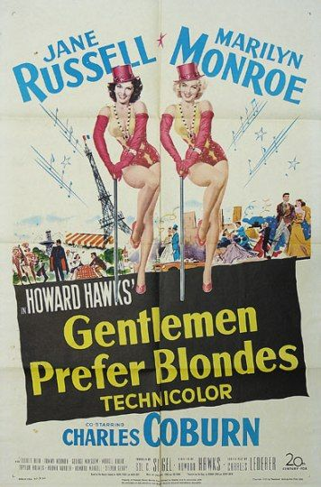 Gentlemen Prefer Blondes Movie Posters Original and Vintage