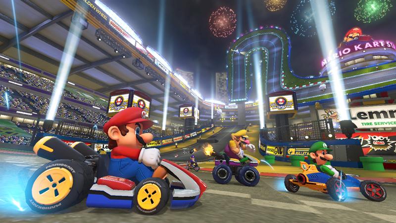 Mario Kart Stadium Drifting To The Finish Mario Kart 8 Mario Kart Mario