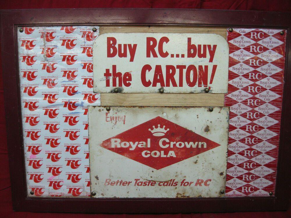 Vintage Original 1950 S Crown Royal Cola Metal Signs Royalcrowncola In 2020 Crown Royal Metal Signs Vintage