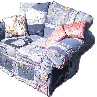Casa Coisas Tal Denim Furniture Denim Diy Upcycle Jeans