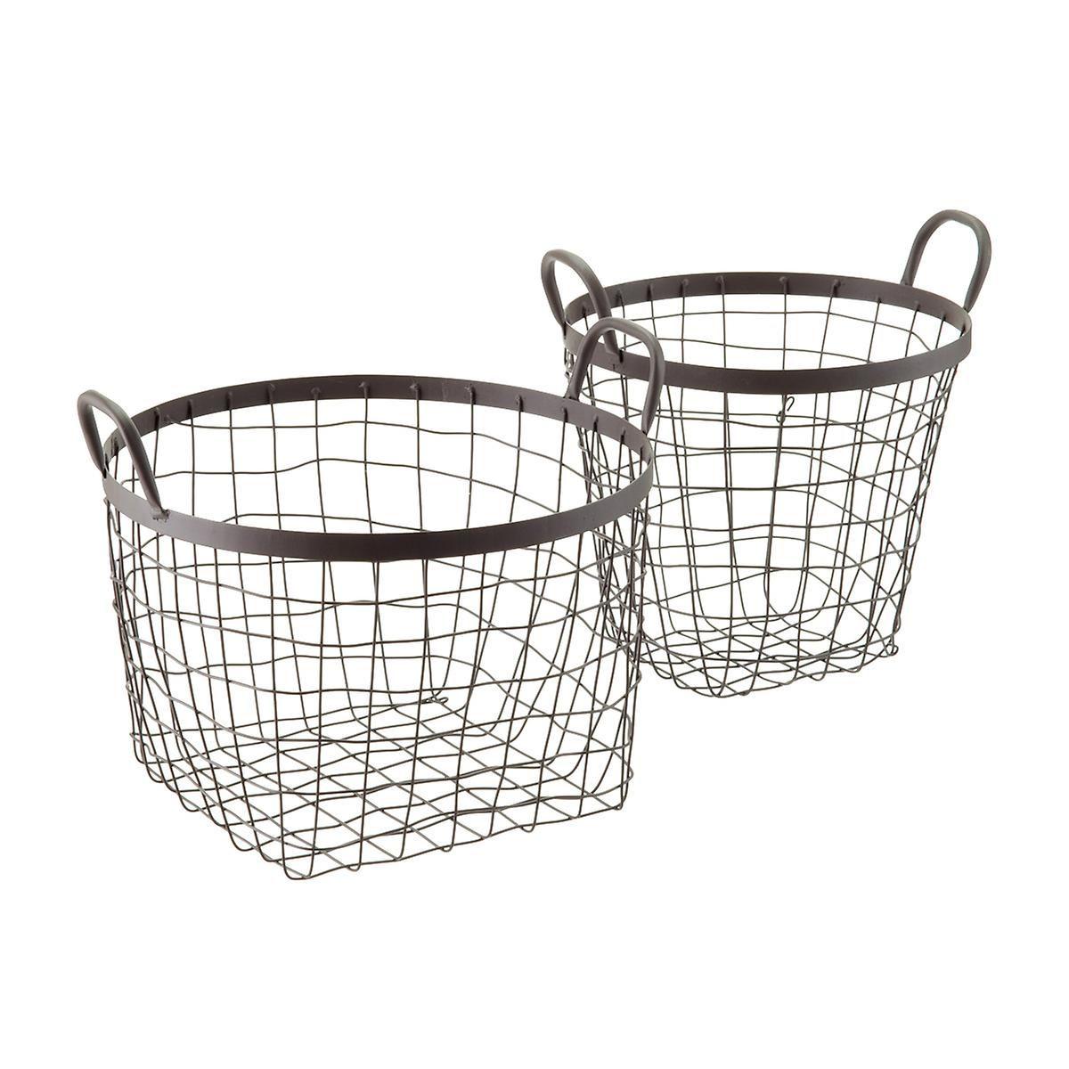 Rustic Decorative Storage Baskets with Handles | Rustic decorative ...
