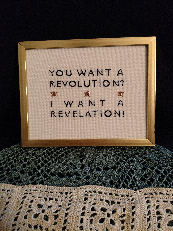 Hamilton cross stitch pattern revolution revelation