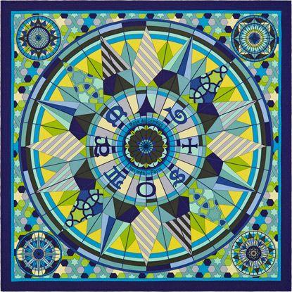 b0e2e5592a75 La Maison des Carrés Hermès Rose de Compas   Hermes   Pinterest ...