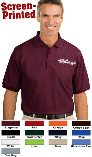 Port Authority Silk Touch Polo With Pocket Printed Port