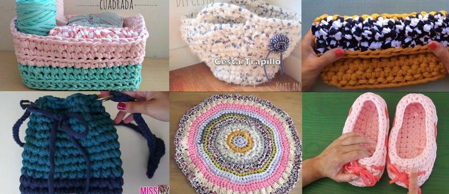 Trabajos de crochet: Saca el máximo partido a tus ovillos de trapillo