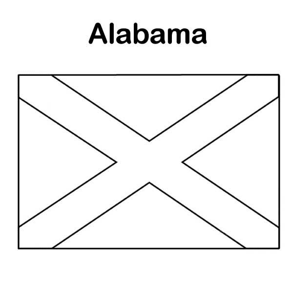State Flag Of Alabama Coloring Page Color Luna Flag Coloring Pages State Flags Coloring Pages