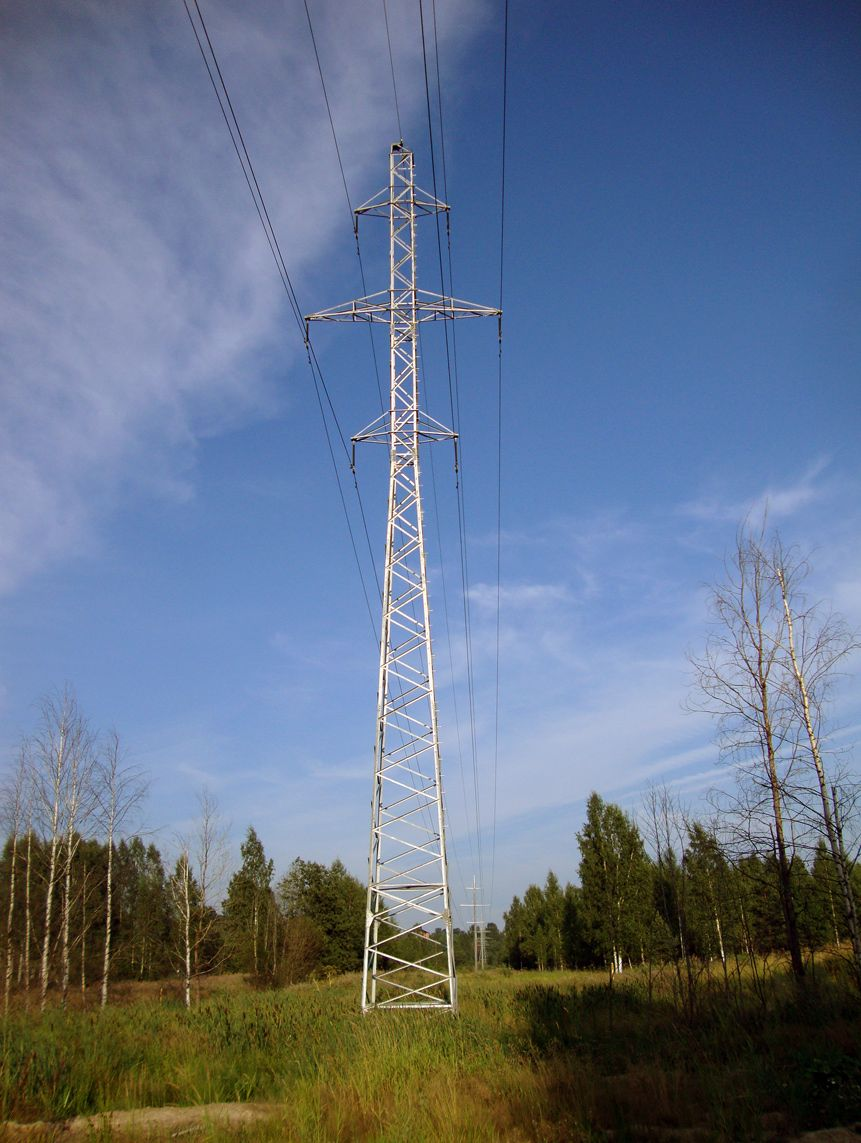 Transmission Tower 110 Kv In Hyazel Ki Leningrad Oblast Russia