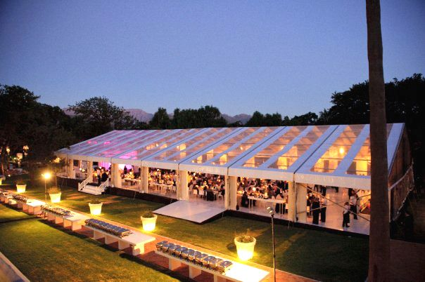 Chattels -Transparent Roof Marquee, Allee Bleue Wedding ...