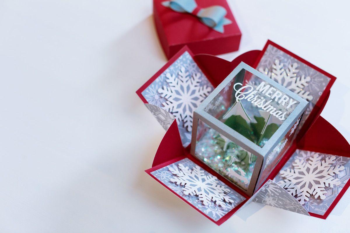Cricut Design Space Diy exploding box, Boxed christmas
