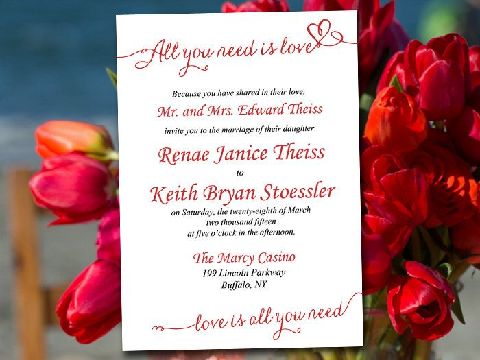 Wedding Invitation Template Download - Valentine Red Invitation - download invitation card