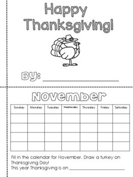 Its time to be Thankful!Students can use this book to color and write about everything Thanksgiving! This book is 8 pages that students can cut and glue or staple the side.Write and draw about:-Favorite foods,-What you are thankful for-If you were a turkey-Thanksgiving acrostic poem
