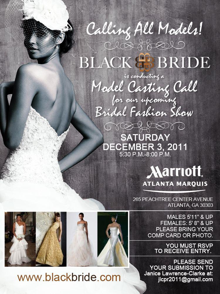 Model Call Playbill For The  BlackbrideCom Bridal Show