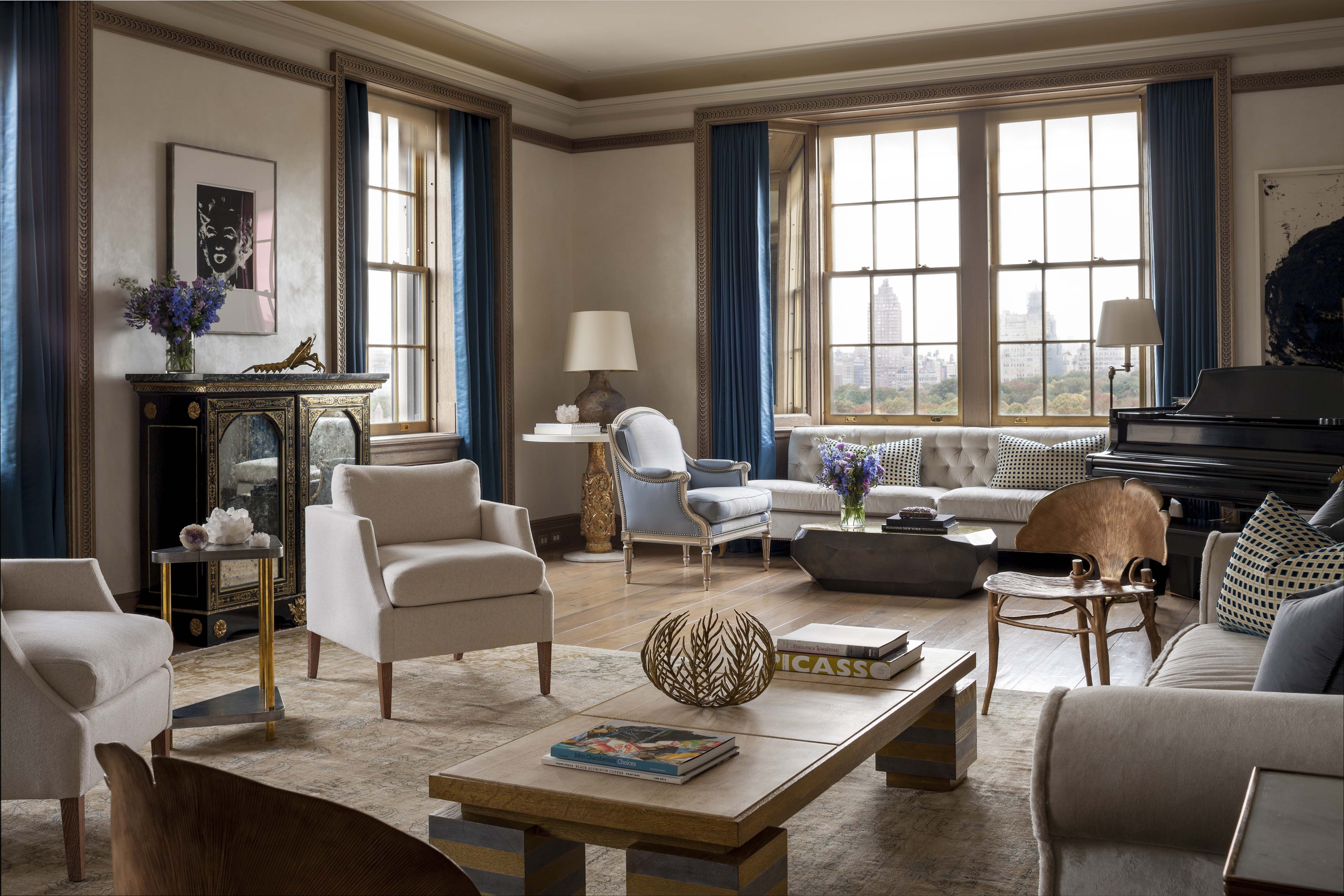 Living Room New Apartment On Fifth Avenue John B Murray Architect Interior Design By