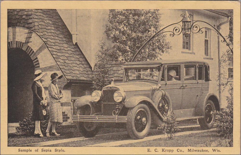 MILWAUKEE, Wisconsin; Sample of Sepia Style, E. C. Kropp Co., PU ...