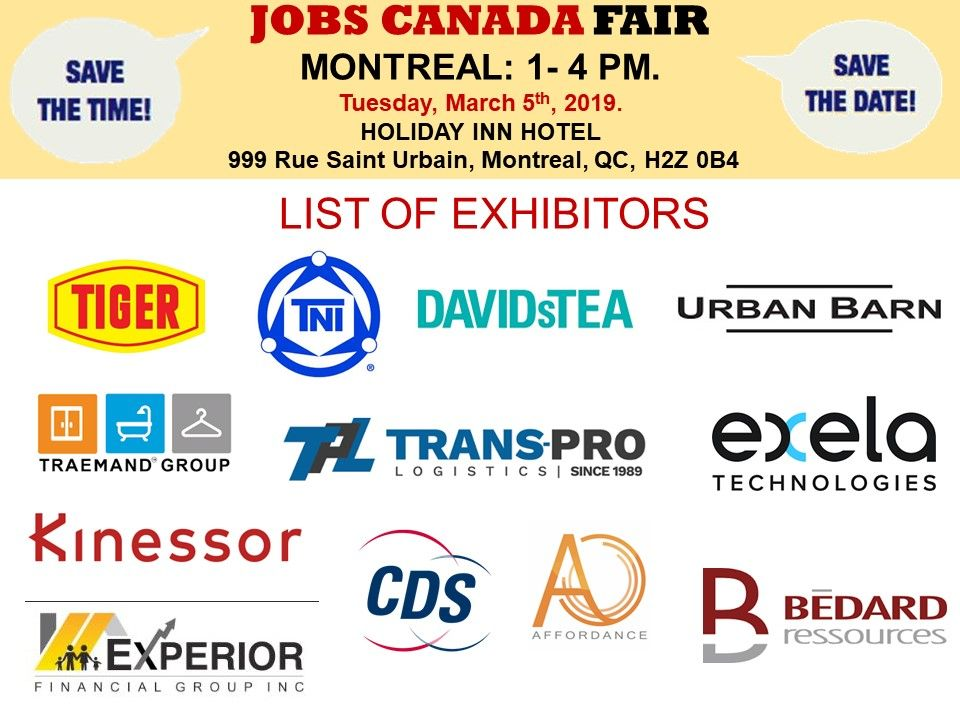 List Of Hiring Companies For Montrealjob Fair March 5th 2019 1