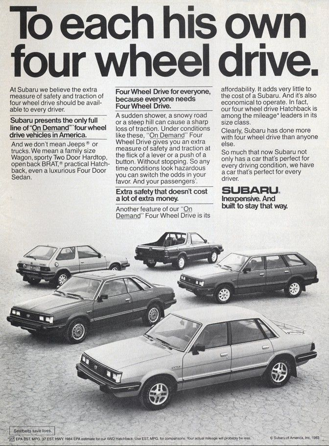 1980 Subaru GL and DL 4WD Wagons | Subaru Across the Years ...