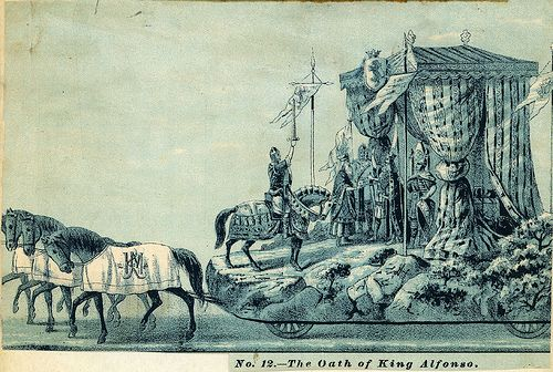 No. 12  The Oath of King Alfonso . Mardi Gras Floats . 1880s