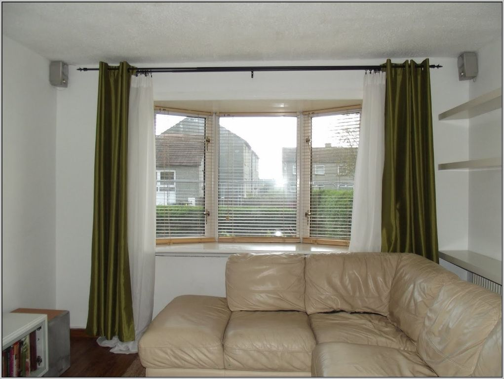 Furniture Awesome Bay Window Curtain Rod Target Also How Do Bay