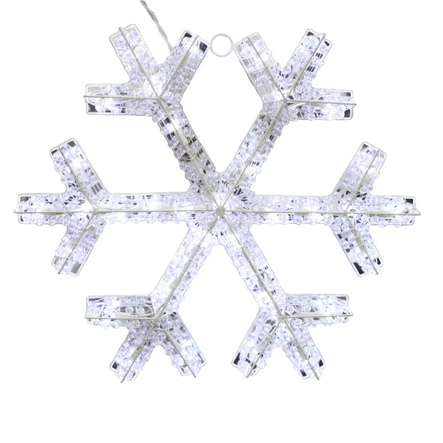 Holiday Living Pre Lit Snowflake Snowflake With Twinkling White Led Lights Snowflake Christmas Lights Outdoor Christmas Outdoor Christmas Decorations