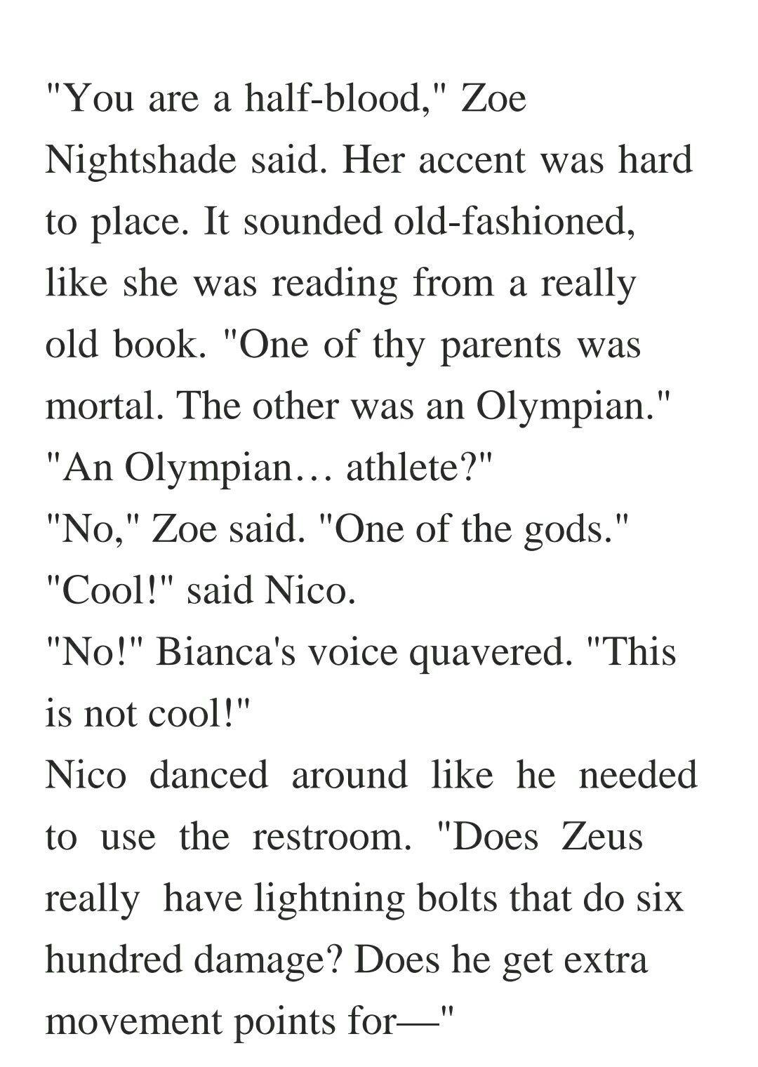 Nico was such a sweetheart BEFORE RIORDAN KILL BIANCA