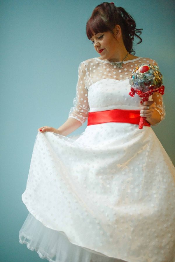 A Fun Red Vintage Circus London Wedding   Colored wedding dress ...
