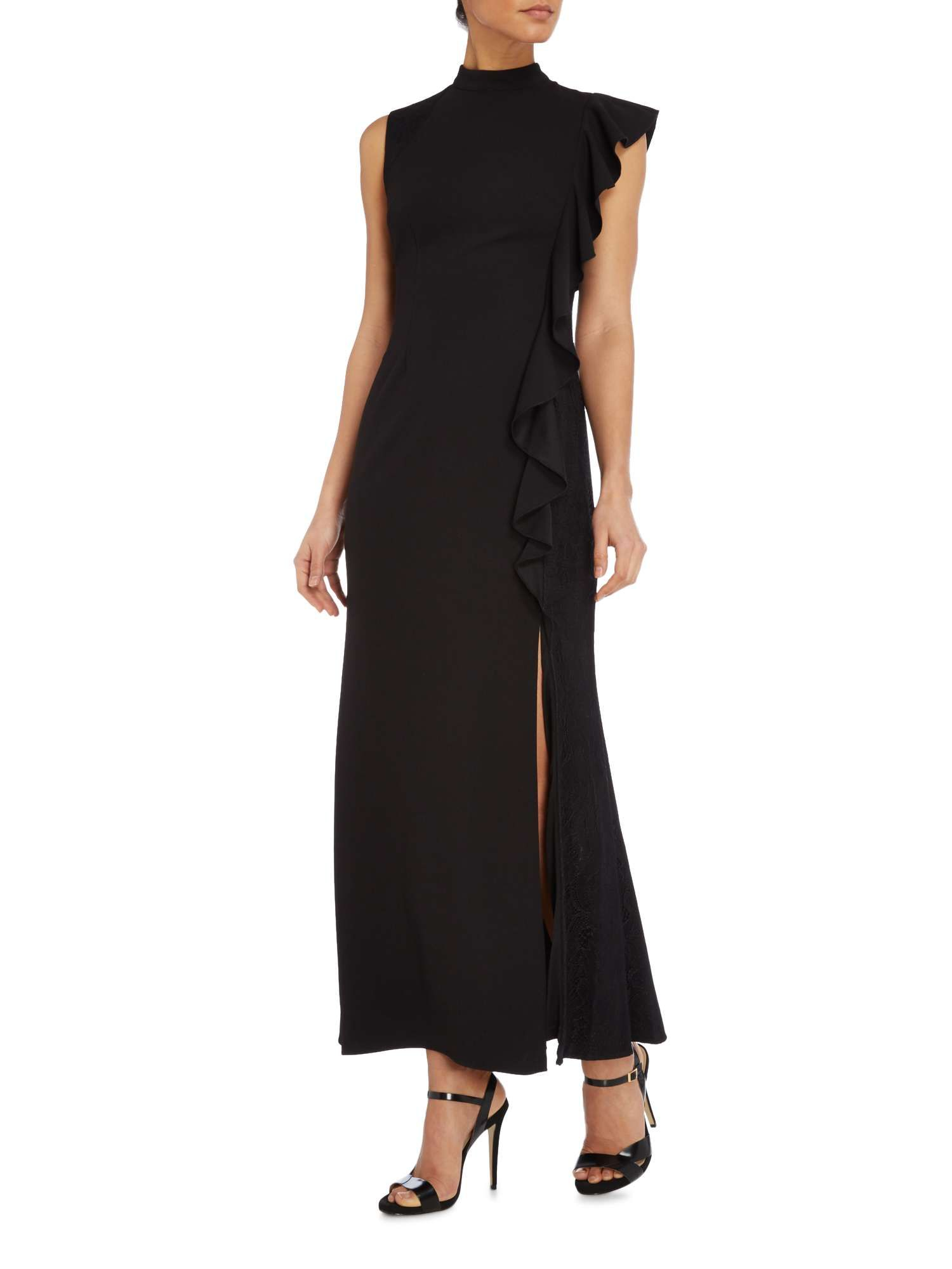 sleek factory outlets fast delivery Adrianna Papell Petite Maxi Dress With Cap Sleeve And Side ...