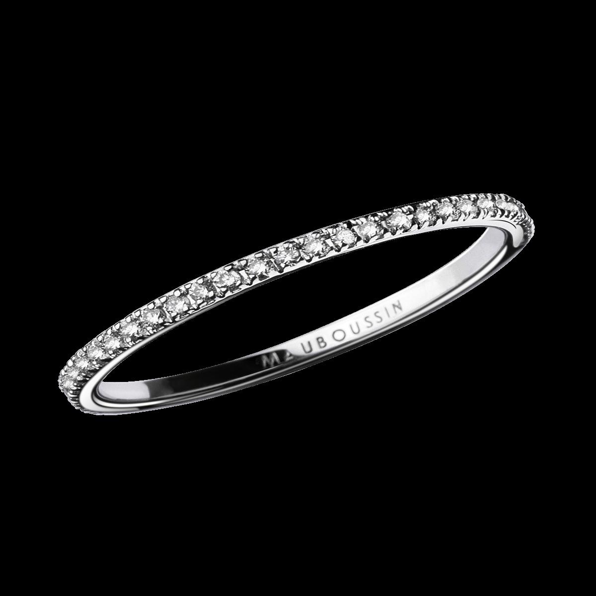 Très Alliance Parce que je l'aime, or blanc et diamants - Mauboussin  SO59
