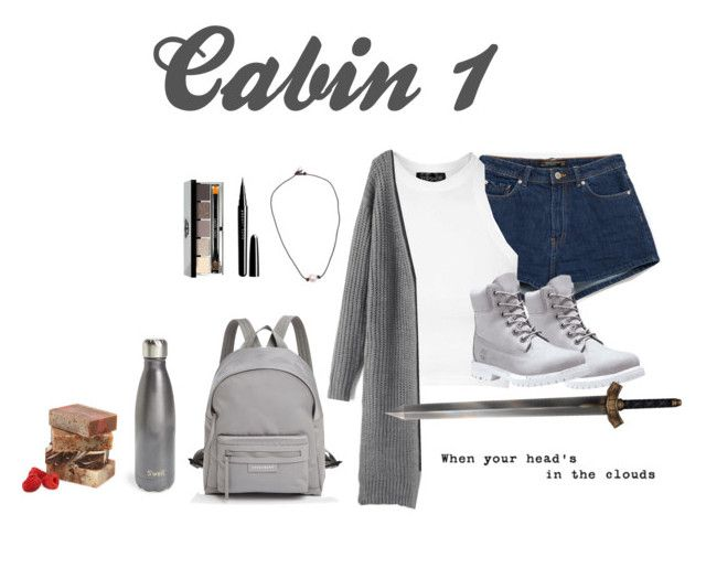 """""""Cabin 1"""" by owl80 ❤ liked on Polyvore featuring Zara, Topshop, Timberland, Longchamp, Marc Jacobs, Bobbi Brown Cosmetics and S'well"""