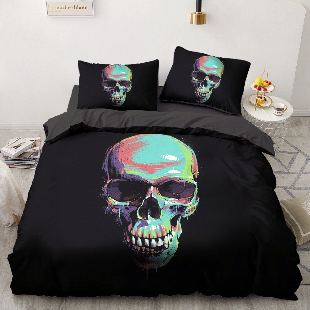 Photo of 3D TOO YOUNG TO DIE SKULL BEDDING SETS