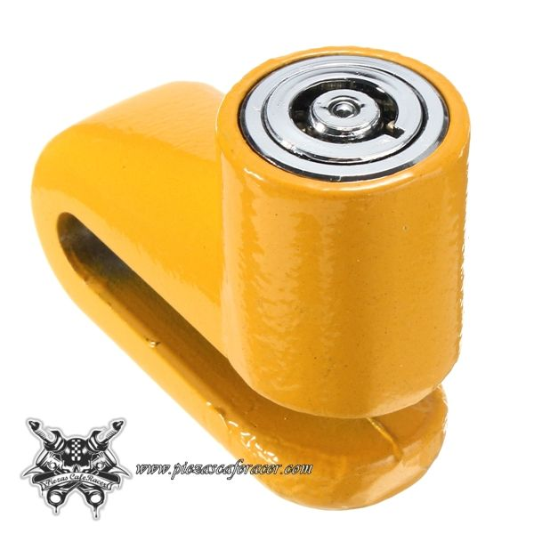 Antirrobo Para Disco de Freno Moto Universal Color Amarillo - Envío Gratuito a Toda España - 6,38€