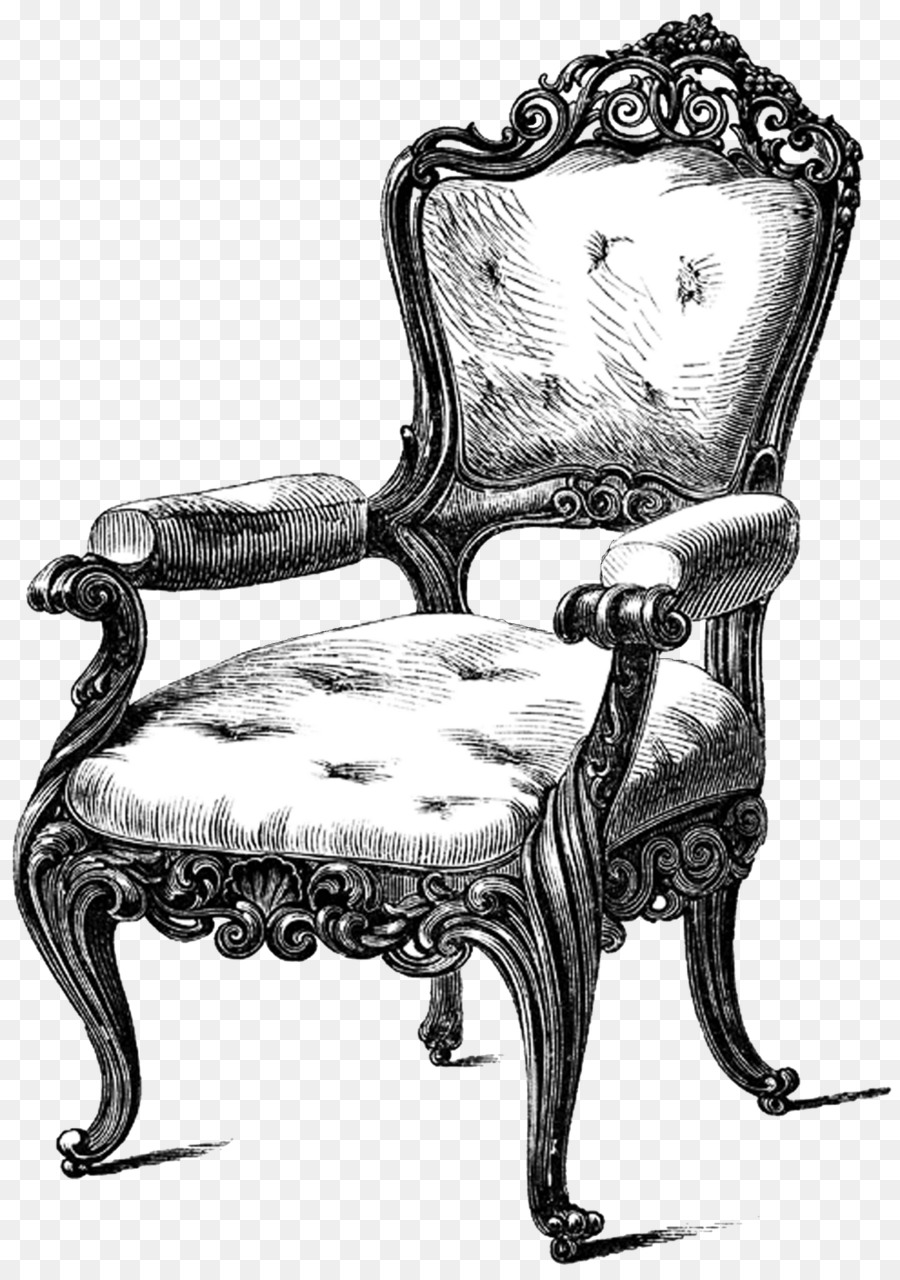 Table Chair Antique Furniture Drawing Couch Armchair Png Clip Art Vintage Fancy Chair Furniture Design Sketches
