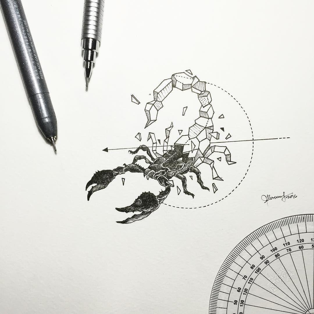 Geometric Beasts Scorpion By Kerbyrosanes Tattoo Tattoos