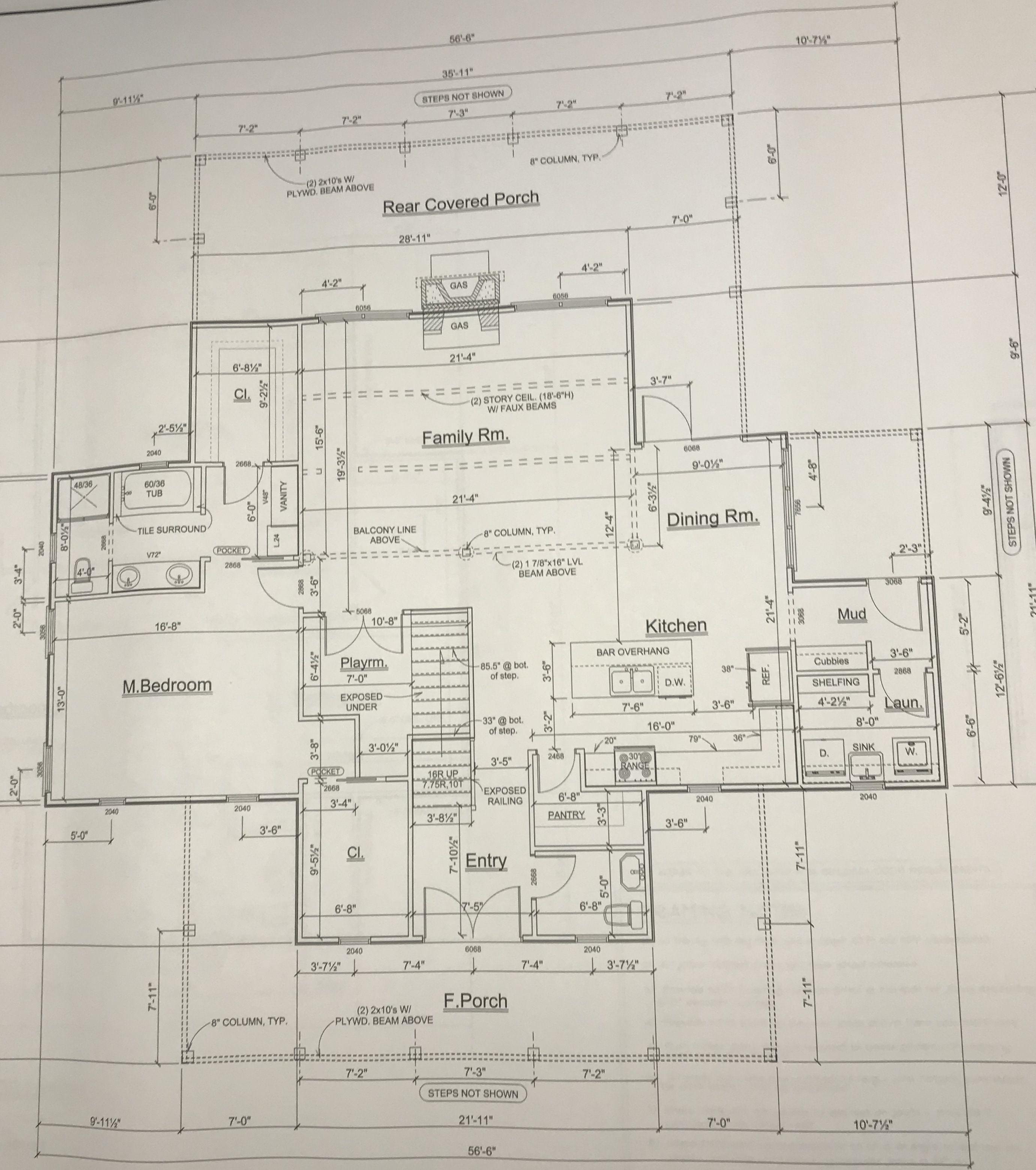 Four Gables 1st Floor Modified Gable House How To Plan Farmhouse Floor Plans
