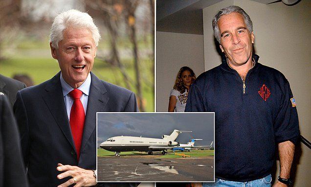 Image result for bill clinton jeffrey epstein