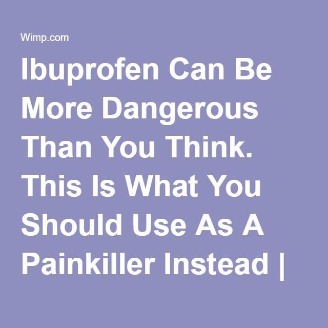 what happens when you snort ibuprofen