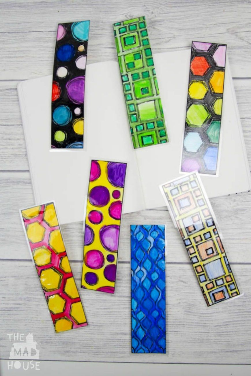 Diy colouring page bookmarks make your own diy and for Bookmark craft for kids