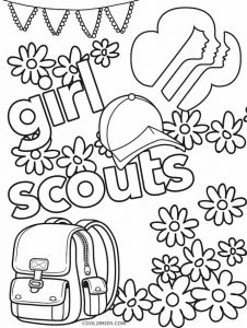 Girl Scout Coloring Pages | Girl scout songs, Brownie girl ...