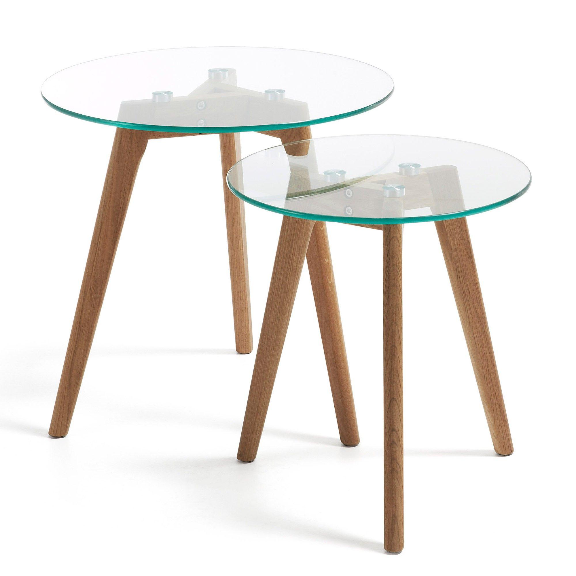 Set Tables d' Appoint Kirb 50 cm, verre