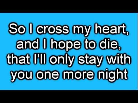 Maroon 5 One More Night Lyrics On Screen Hd Nights Lyrics One More Night Here Lyrics