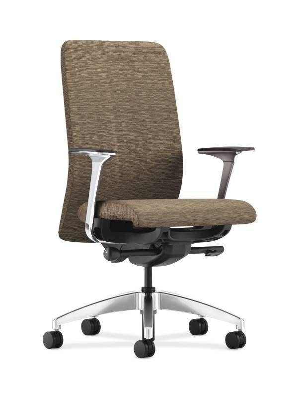 Nucleus Upholstered Back Task Chair in Grade III Attire Fabric
