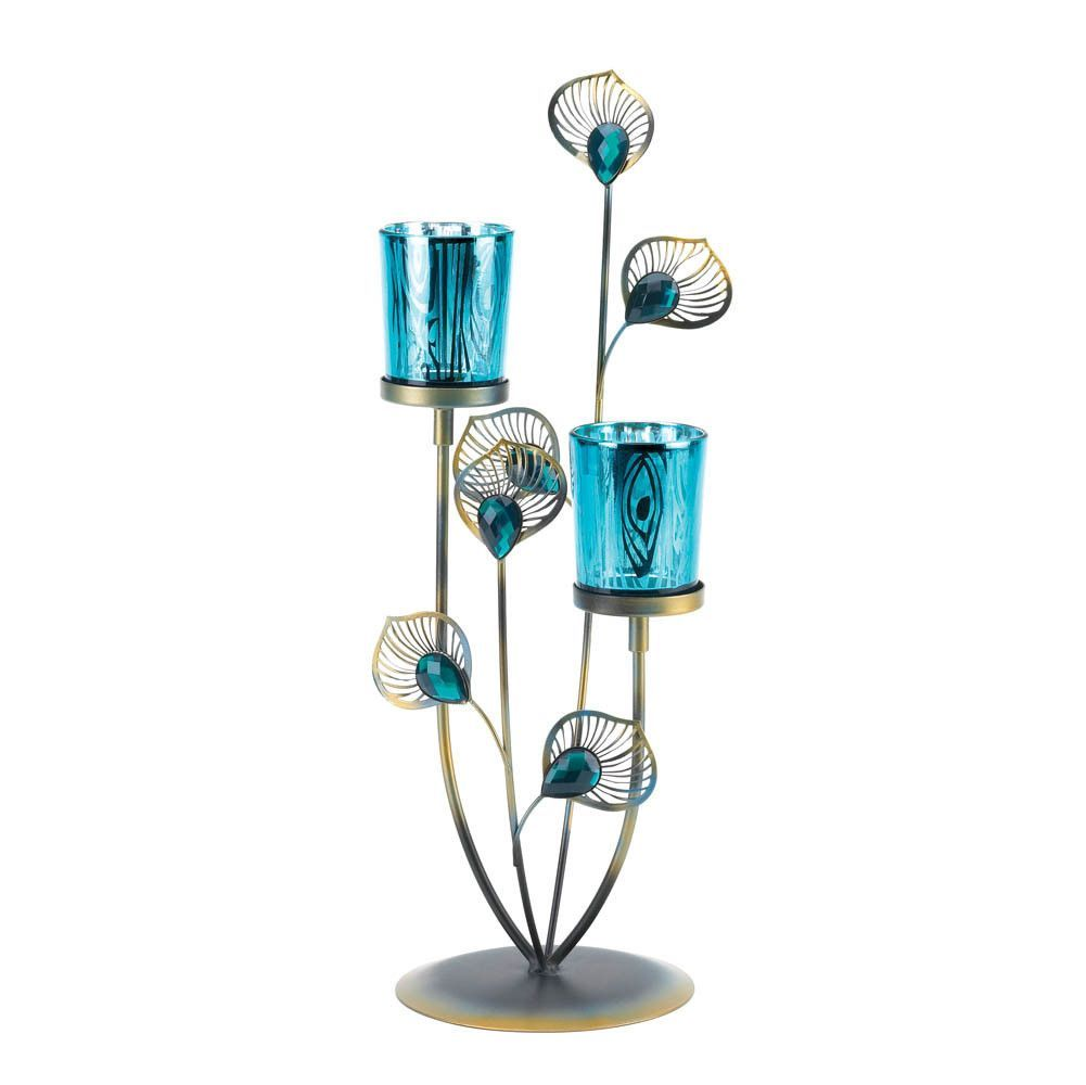 Peacock plume candle holder products pinterest peacock and