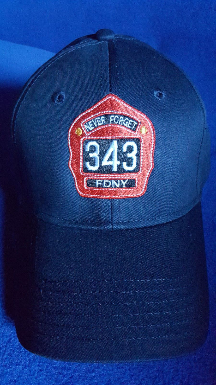 000a0e989e5 343 Leather Helmet Shield Embroidered Flexfit Hat Fdny Never Forget  Firefighter