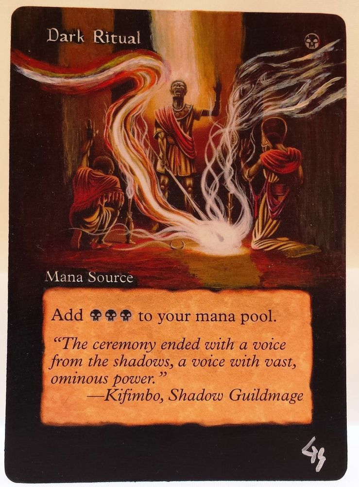 MTG Magic DARK RITUAL Mirage Hand Painted Altered Art Card OOAK #WizardsoftheCoast