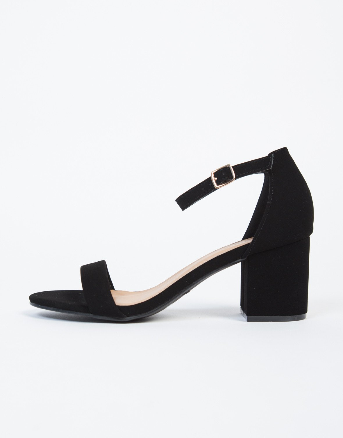 eebcf5c605e Ankle Strapped Block Heel Sandals