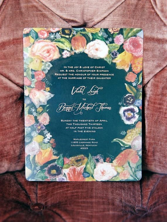 inspiration | floral invites for bohemian bridal shower | whitney neal photography | via: 100 layer cake